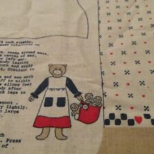Lancaster County Muslin fabric panel Mom Pig 3 piglets in blanket doll
