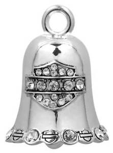 Harley-Davidson White Crystal Bar & Shield Ride Bell HRB016