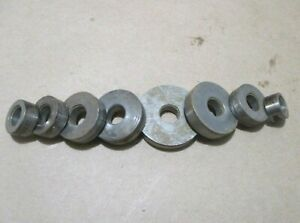 "Set of 8 Spacers for Craftsman Rockwell Delta Wood Shaper W/1/2"" Spindle"