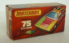 Repro Box Matchbox Superfast Nr.75 Alfa Carabo Streaker