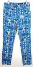 Calvin Klein Definitivo Flaco Vaqueros Elásticos 30/10 Azul Estampado