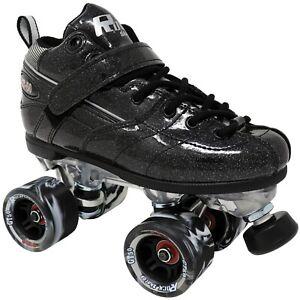 New! Black Rock GT-50 Glitter Quad Roller Speed Skates