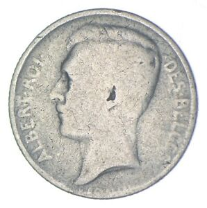 Roughly the Size of a Dime 1900s Belgium 50 Centimes World Silver Coin *690