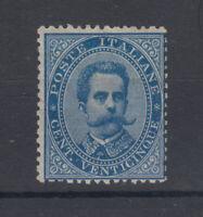 REGNO D'ITALIA 1879 UMBERTO I 25 CENTESIMI G.O MLH* FRESCO BUONA CENTRATURA