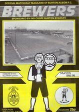 BURTON ALBION V GOOLE TOWN 16/11/1985 PROGRAMME