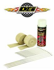 DEI 010332 Motorcycle Exhaust Wrap Kit & White Silicon Spray W/ Locking Ties