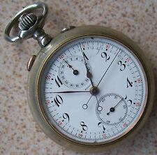 Nickel Chromiun case 53,5 mm. Bristol Chronograph Rattrapante Pocket Watch
