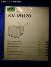 Sony Bedienungsanleitung KV M1120D Color TV (#2071)