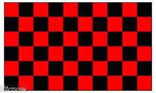 CHECKERED FLAG (Red & Black) 5FT X 3FT