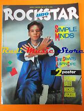 rivista ROCKSTAR 44/1984 POSTER Michael Jackson Simple Minds Dire Straits Nocd