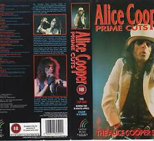 ALICE COOPER - Prime Cuts - RARE and deleted 1991 UK 23-track VHS Video -90 mins