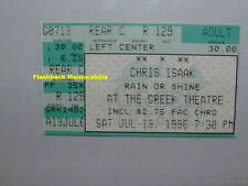 CHRIS ISAAK Concert Ticket Stub 1996 GREEK THEATRE GRIFFITH PARK L. A. Very Rare