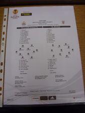 11/04/2013 Colour Teamsheet: Newcastle United v Benfica [Europa League] (Tactica