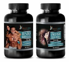 Testosterone Booster 742 - Potency Men + UNLEASH YOUR WOLF - Male Stamina (1+1)