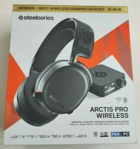 NEW Steelseries Arctis Pro Wireless Headset Gaming Audio System Black PC PS4