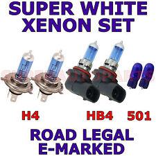 passend für Mitsubishi L200 2005-2006 SET H4 Hb4 501 XENON SUPER weiß Glühbirnen