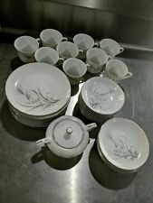 Castle Court Japan Wheat Spray Tea set with Plates and Bowls, fine china