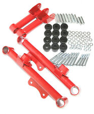 Red Racing Rear Upper and Lower Tubular Control Arms for 79-04 Ford Mustang