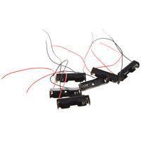 6Pcs Cable Conector 1.5V AAA Bateria Soporte Plastico Caso Almacenamiento C E7Y4