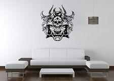 Wall Sticker Mural Decal Vinyl Decor Samurai Skull Horror