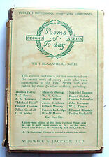 Poems of Today Second Series 1929 HB Womens Employment Exchange Darlaston WS10
