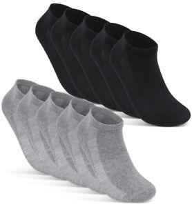 10 Paar Sneaker Socken Herren Damen Atmungsaktiv mit Mesh Schwarz Weiß Grau