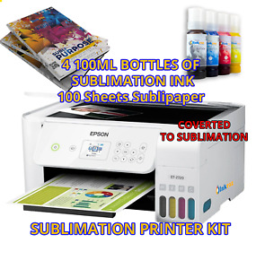 Epson Printer With Sublimation Ink, Sublimation Printer Bundle with Sublipaper