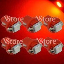 6 LED T5 Lampade B8.5D Per Cruscotto Quadro Strumenti SMD ROSSO Luci 12V