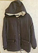 NEW WOMEN SIZE XXXL Z & I FUR LINED COAT WITH HOOD DEEP POCKETS