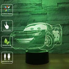 Night Light Cars Touch Swift 3D LED Table Desk Bed Lamp Gifts 7 Color Change