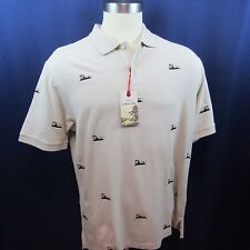 Cremieux Mens XL Cream Polo Shirt Canoes