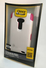 OtterBox Commuter LG G Flex Slim Hard Shell Snap Cover Case White Pink NEW