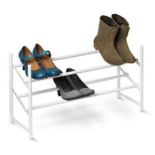 2-Tier White Expandable, Stackable Shoe Rack #SHO-01167 by Honey Can Do