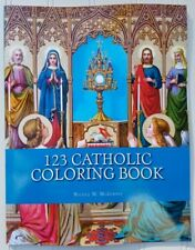 123 Catholic Coloring Book ~Grade K 1 2 Art Religion Catechism Children