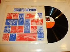 SPORTS REPORT - Highlights from 21 years of BBC Sport - 1969 Vinyl LP
