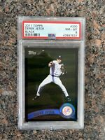 DEREK JETER 2011 Topps #330 Black Border Parallel PSA Graded 8 NM-MT Yankees