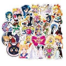 50Pcs Sailor Moon Stickers Anime  Cute Cartoon Character Printed Pack Lot  AaGVx