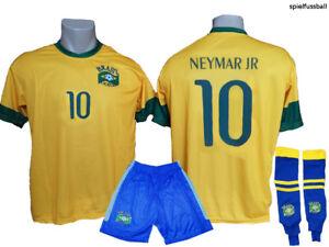 Brasilien Neymar Fan Shirt alle Groessen Kinder und Erwachsenen Trikot Größen