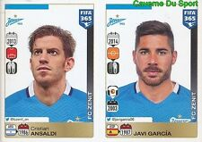 740-741 CRISTIAN ANSALDI JAVI GARCIA FC ZENIT FIFA 365 PANINI