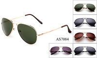 Aviator Sunglasses Top Gun Classic Metal Spring Frame Men Women Pilot UV 100%
