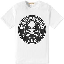 NWT Mastermind Japan x END Clothing Skull Logo Tee White Black M
