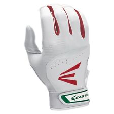 Easton HS7 Batting Gloves NEW Men's XS White/Red/Green FREE SHIPPING