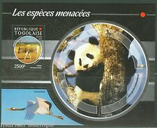 TOGO 2015  ENDANGERED SPECIES PANDA, ADDAX & STORK S/S MINT NEVER HINGED