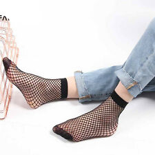 Fashion Harajuku Solid Black Breathable Fishnet Socks Cool Female Sexy Nets LJ