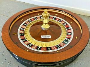 "ROULETTE WHEEL 32"" T C S JOHN HUXLEY #8726 (USED) Single 0"