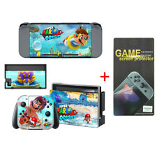 Super Mario Decal Cover Skin Stickers for Nintendo Switch with Screen Protector