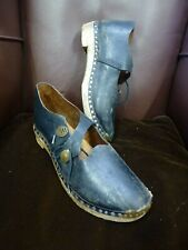Old Leather and wooden clogs clog dancing re-enactment mill Peterlou sz Uk 4