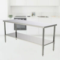 "72""x 24"" Commercial Stainless Steel Work Table Food Prep Kitchen Work Bench USA"