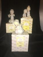 PRECIOUS MOMENTS Figurines - Lot of 3 Pieces Preowned With Boxes