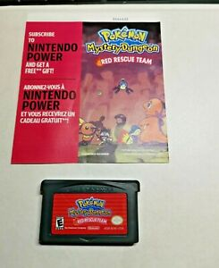 Pokemon Mystery Dungeon Red Rescue Team/Rare Authentic GBA Cartridge